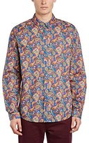 Pretty Green Men's Vintage Paisley Long Sleeve Classic Regular Fit Casual Shirt