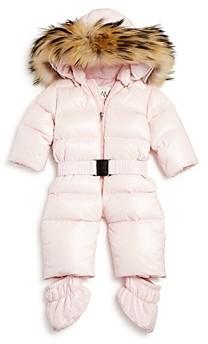SAM. Unisex Snowbunny Snowsuit with Fur Trimmed Hood - Baby