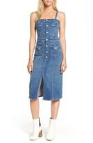 Mother Women's To The Point Denim Midi Dress