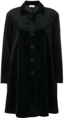 Sara Battaglia Velvet Shirt Coat