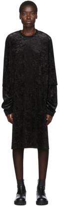 Comme des Garcons Black Velour Double Sleeve Dress