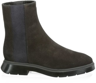 Stuart Weitzman Romy Shearling-Lined Leather Chelsea Boots