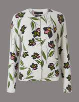 Marks and Spencer Pure Cashmere Floral Print Cardigan