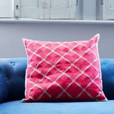 Graham and Green Phulkari Square Cushion In Pink