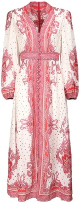 Zimmermann Bells Printed Linen Maxi Dress