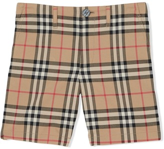 BURBERRY KIDS Vintage check print shorts