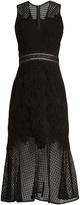 Jonathan Simkhai Fluted-hem sleeveless lace dress