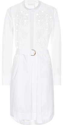 Chloé Eyelet lace cotton shirt dress
