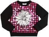 Versace Sequined & Printed Cotton Sweatshirt