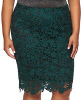 JLO by Jennifer Lopez Plus Size Lace Pencil Skirt