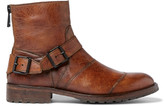 Belstaff Trialmaster Burnished-Leather Boots