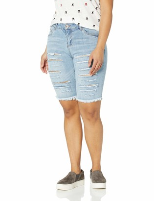 Dollhouse Women's Size Couva Plus Denim Bermuda 16