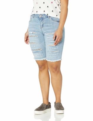 Dollhouse Women's Size Couva Plus Denim Bermuda 18