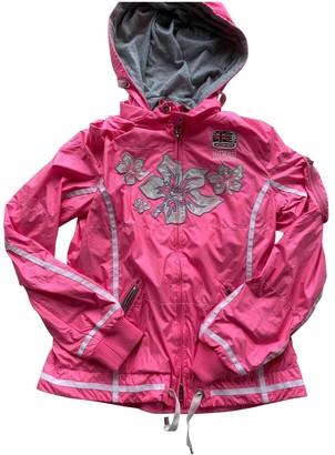 Bogner Pink Leather Jacket for Women