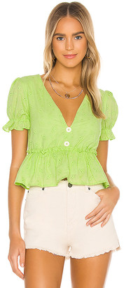 Line & Dot Willow V Neck Top