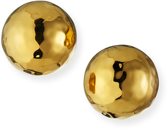 Nest Jewelry Hammered Gold Dome Stud Earrings