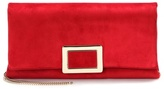 Roger Vivier Ines Small suede clutch