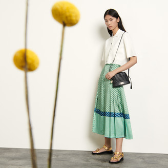Sandro Long mixed print skirt