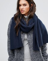 Vila Ribbed Knitted Scarf