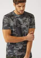 Emporio Armani EA7 t-shirt in patterned fabric
