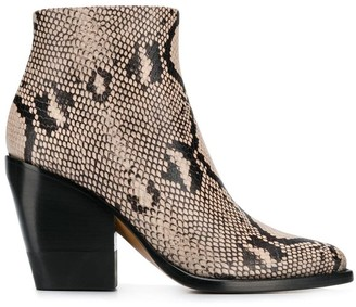 Chloé Rylee low boots