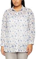 Ulla Popken Women's Hemdbluse Mit Blümchenprint Shirt
