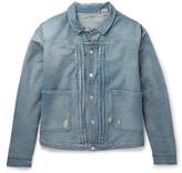 Levi's 1880s Pleated Distressed Denim Jacket