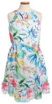Marciano Girl's Tropical Print Sleeveless Dress