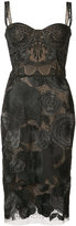 Marchesa floral dress - women - Nylon - 0
