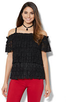 New York & Co. 7th Avenue - Lace-Tier Blouse