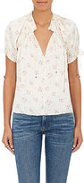 Ulla Johnson Women's Mallory Finely Pleated Charmeuse Blouse