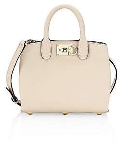 Salvatore Ferragamo Women's Mini Studio Leather Top Handle Bag