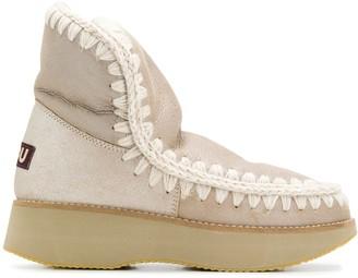 Mou Eskimo metallic platform boots