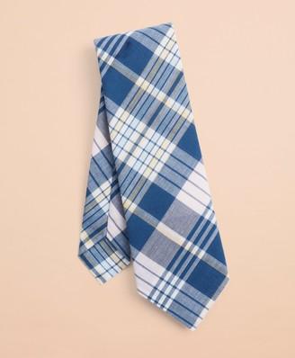Brooks Brothers Madras Cotton Tie