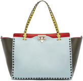 Valentino Multicolor Leather Medium Rockstud Tote