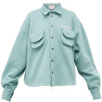 Natasha Zinko Cargo Pocket Cotton Blend Jersey Shirt - Womens - Light Green