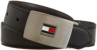 Tommy Hilfiger Men's Reversible Interchangeable-Buckle Belt Gift Set One Size