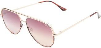 Quay High Key Mini 57mm Aviator Sunglasses