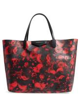 Givenchy Antigona Rose Print Coated Canvas Shopper