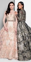 Terani Couture Long Sleeve Embroidered A-line Evening Dress