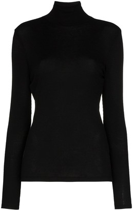 Ninety Percent Ribbed Cotton Roll Neck Top