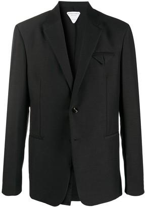 Bottega Veneta Pocket-Fold Single-Breasted Blazer