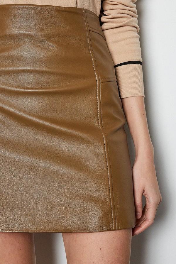 Thumbnail for your product : Karen Millen Nubuck Leather Mini Skirt