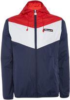 Ellesse Hooded Tri-colour Zip Up Waterproof Jacket