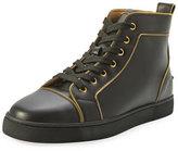 Christian Louboutin Louis Z Men's Zip-Trim Leather High-Top Sneaker
