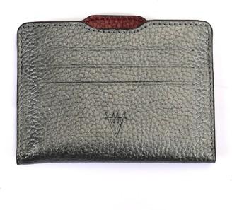 Hiva Atelier Double Card Holder Metallic Anthracite & Metallic Burgundy