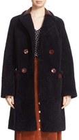 Diane von Furstenberg Women's 'Grayson' Reversible Genuine Shearling Coat