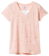 Little Karl Marc John Sale - Tanishy Star V-Neck Linen T-Shirt