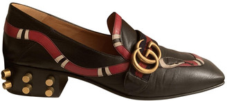 Gucci Marmont Black Leather Flats