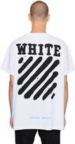 Off-White Spray Stripes Cotton Jersey T-Shirt
